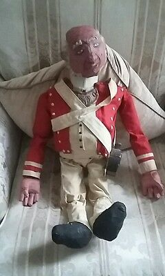 Old Unusual American Revolutionary War Red Coat British Soldier Hand Made Figure