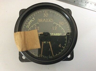 OHC Triple Brake Pressure Gauge 6A/1754 qty 1 (L) Spitfire etc
