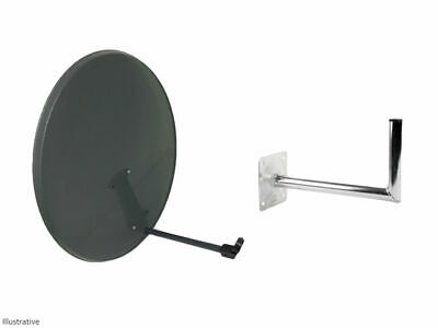 80CM Mesh Satellite Dish With Wall Bracket Sky Freesat Perfect for Seaside Place