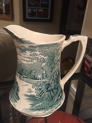 Alfred Meakin, Tintern, Green, Pitcher,good Condition, China, England