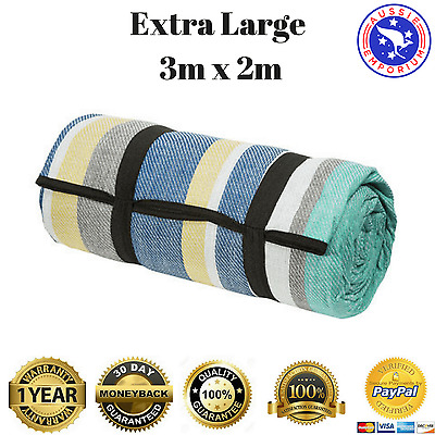 New Extra Large Picnic Rug Mat Blanket BBQ Waterproof Moisture Proof Outdoor 2x3