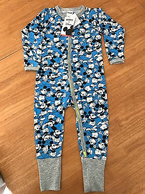 Bonds Mickey Blue Zippy Disney Size 1 Bnwt. Zip Wondersuit.