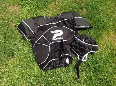 Youths Rugby Body Armour And Head Protecter By Patrick,age 14-16 Years.