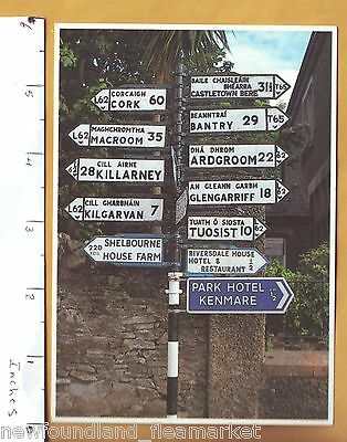 Road Signs People & Places Ireland Postcard PC 265