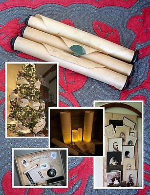 3 VINTAGE Piano Rolls~Crafts, Weddings, Holidays, Victorian, Shabby Chic Decor!