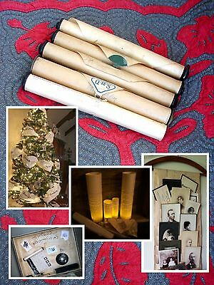 5 VINTAGE Piano Rolls~Crafts, Weddings, Holidays, Victorian, Shabby Chic Decor!