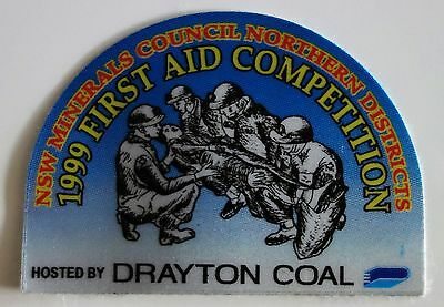 1999 Drayton Coal First Aid Comp Mining Sticker