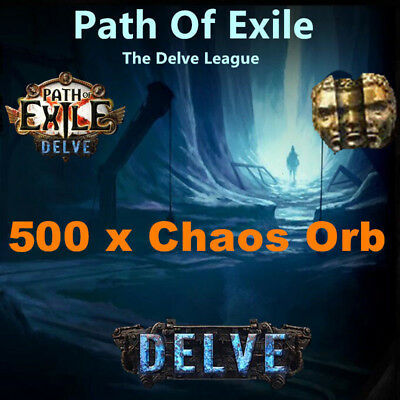 500 x Chaos Orb - Path of Exile PoE 3.2 Currency für Bestiary League Softcore SC