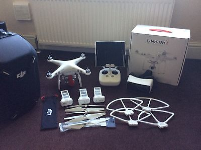dji phantom 3 advanced with spare batteries and accessories