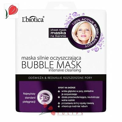 L'Biotica Bubble Effect Face Mask on Fabric Intensive Cleansing 23ml