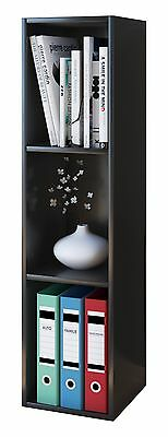 VCM Collector Shelf Mendas for 105 CDs with Wood Structure Reproduction Black
