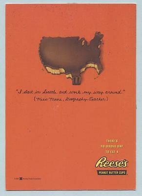 Reese's Peanut Butter Cups Postcard  cute Hershey advertising card
