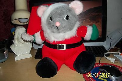 Large Stuffed Santa Mouse