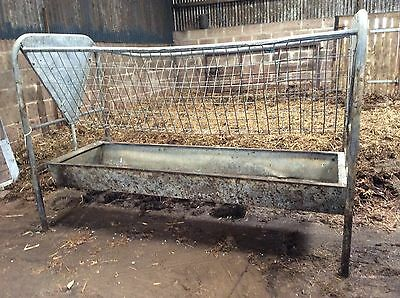 Cattle Feeder - Freestanding Hay Rack & Trough