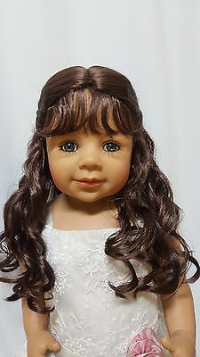 """NWT Monique Lexy Brown Doll Wig 16-17"""" fits Masterpiece Doll(WIG ONLY)"""