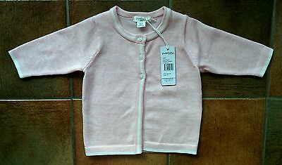 BNWT - Purebaby Pale Pink Knit Cardigan - Size 000 - RRP $59.95