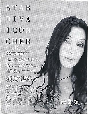Cher, CLASSIC music trade magazine ad, HITS, Believe, 1999, 8-1/2 x 11, LOVELY!