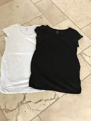 2 X Maternity T-shirts From H&M Mama 12-14