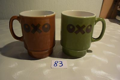 C83 Ensemble de 2 tasses vintage 1960 typique !!! OXO