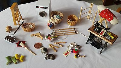 Edwardian Style Dolls House Sewing Laundry Room Job Lot Furniture & Accessories