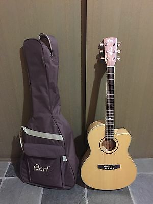 Cort Acoustic Guitar With Carry Bag And Tuner