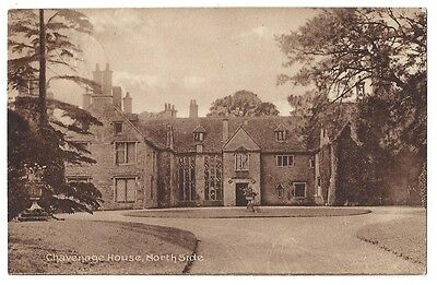TETBURY Chavenage House, North Side, Old Postcard Postally Used 1927