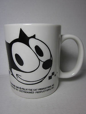 """Felix the Cat 3.25"""" Ceramic Mug Vintage Classic Catroon Character Determined B&W"""