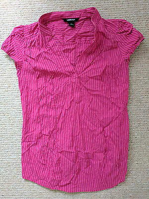 H&M Mama - Maternity Top/Shirt - Pink Striped - Size Small/Petite