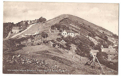 MALVERN Worcestershire Beacon from Wyche Pass, Old Postcard Postally Used 1910