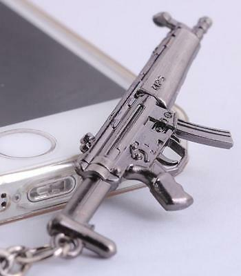 Model ​Weapon Weapon Gun Metal Keychain  MP5 Pendant Key Ring Chain Gift