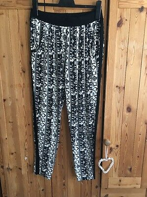 Black And White Next Harem Trousers Size 12