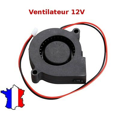 ventilateur a turbine radial 5015s 12v  50x15mm dc fan brushless 3d printed cnc
