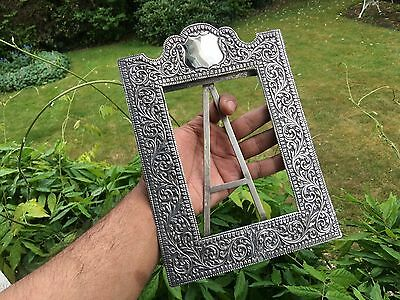 Antique Anglo Indian Kutch Silver Photo Frame 1900.gujarat India.1910. 243 Gms