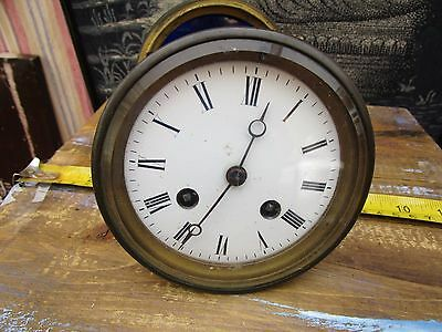 Antique French Japy Freres 8 Day  Striking  Clock Movement With Back Door