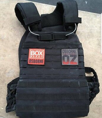 Dummy Plates 20lb pair & BOX READY name patch.  Crossfit plate carrier murph