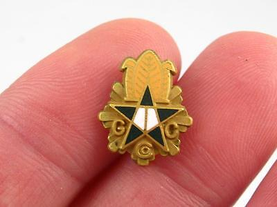 G C Co. Tobacco 25 Years Employee Service Pin Gold Filled & Enamel By Birks