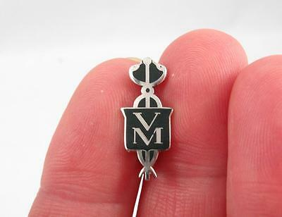 Veterinary Medicine Medical Pin In Sterling Silver & Enamel