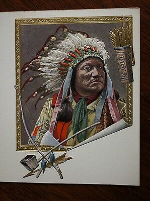 "Antique Print ""CHIEF PAINTED HORSE"" NATIVE AMERICAN OGLALA SIOUX INDIAN - 1899"