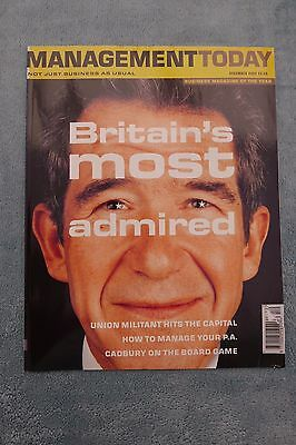Management Today Magazine: December 2002, Britain's Most Admired Companies ExCon