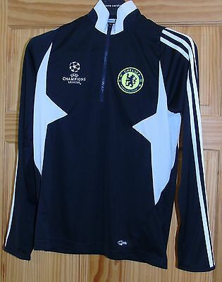Adidas Men's Long Sleeve Chelsea FC Training Shirt Black size M