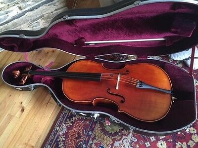 Beautiful 3/4 Size Cello And Bow by John Woo - Spring.