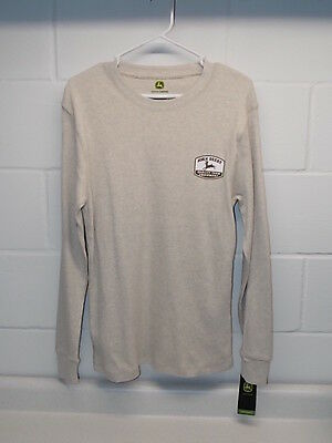 New With Tags John Deere Equipment Thermal Long Sleeved Waffle Shirt Size Large
