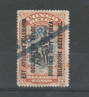 "Ruanda  Urundi, 1916-1917, local overprint ""TABORA"" rare GEA occupation 5 FRANKS"