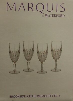 4 Waterford by Marquis Brookside NEW Iced Beverage Crystal Glasses