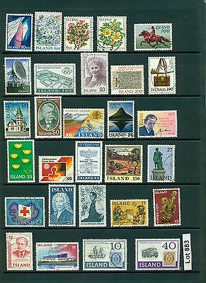Lot 883..Iceland..selection of 29 stamps from various years