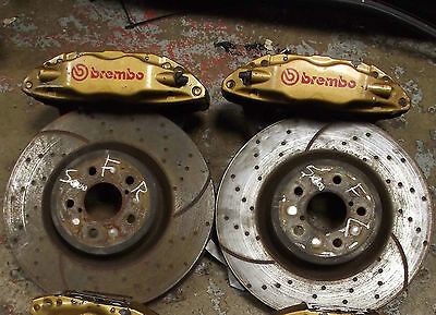 Impreza Front 4 Pot Brembo Brake Brakes Calipers Disks Wrx Sti 22B P1 Jdm Turbo