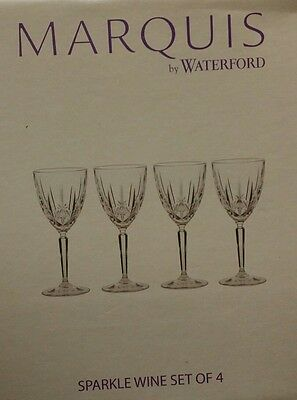 4 Waterford by Marquis NEW Sparkle wine Crystal Glasses