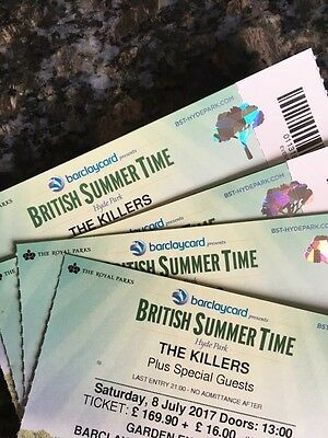 Killers Tickets VIP Hyde Park