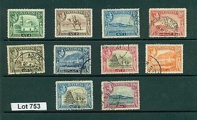 Lot 753..Aden..10 mint and used stamps from 1939-45