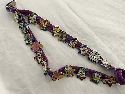 Ebay LIVE 2003 Orlando Collector Pins on Lanyard - 19 Pins - Mint